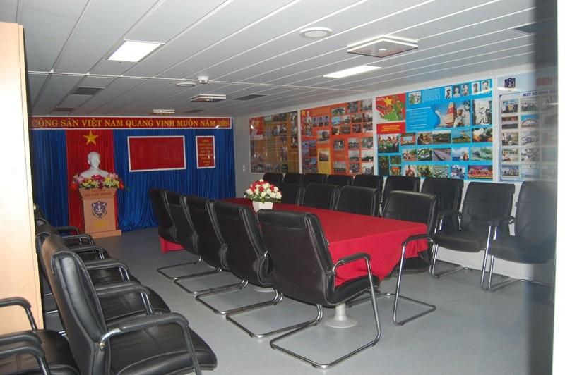 Phòng Hồ Chí Minh - Nơi sinh hoạt chính của cán bộ, chiến sĩ trên tàu