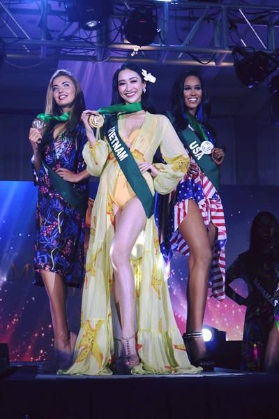 Hà Thu tạm dẫn đầu bình chọn Hoa hậu ảnh tại Miss Earth - ảnh 3
