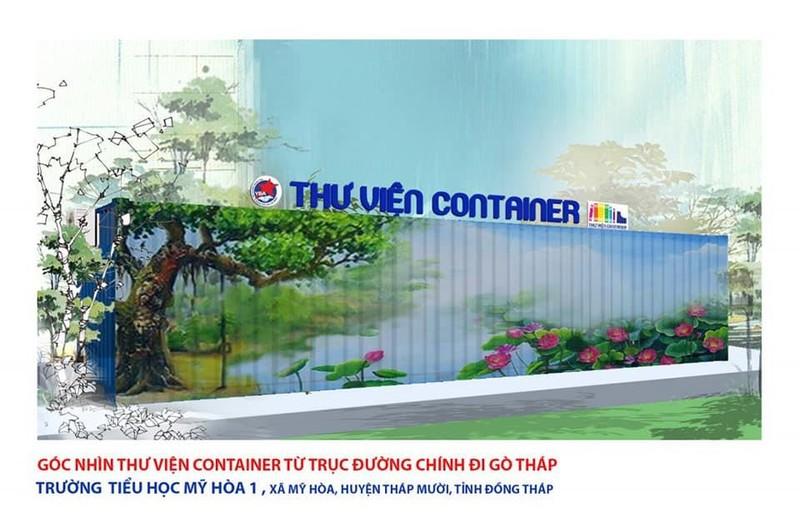 Đồng Tháp sắp có thư viện container hiện đại - ảnh 1