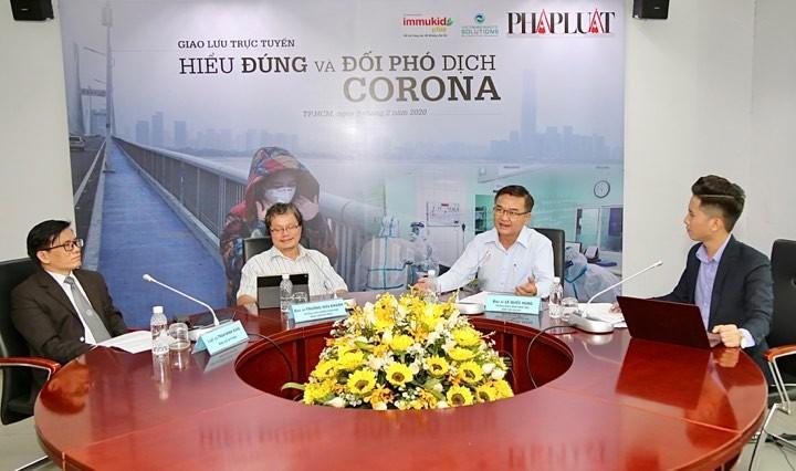 Giao lưu trực tuyến 'Hiểu đúng và đối phó dịch Corona' - ảnh 10