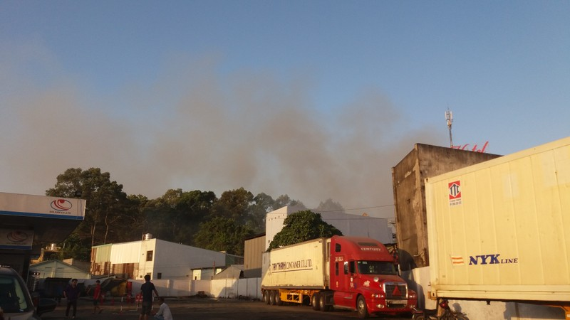 Hàng trăm cảnh sát dập đám cháy xưởng gỗ ở Thủ Đức - ảnh 6