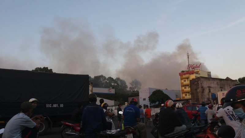 Hàng trăm cảnh sát dập đám cháy xưởng gỗ ở Thủ Đức - ảnh 11