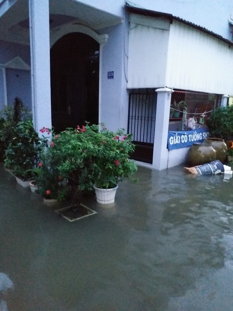 Người dân TP.HCM chật vật với nạn ngập sau bão số 9 - ảnh 7