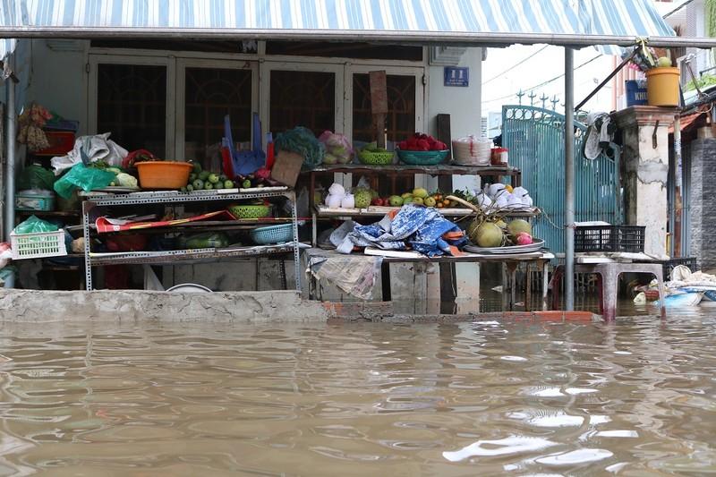 Dân TP.HCM đi chợ bằng xuồng sau bão số 9 - ảnh 8