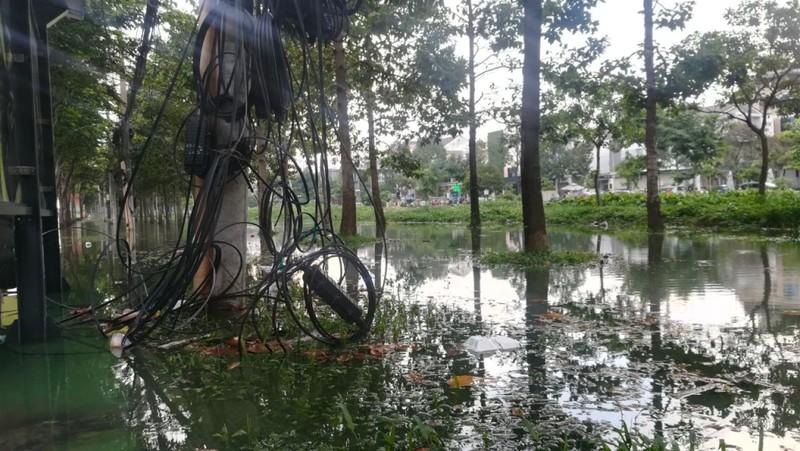 Dân Sài Gòn bì bõm lội nước chiều cuối tuần - ảnh 12
