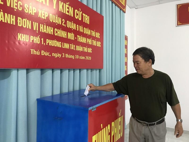 Người dân bỏ phiếu về việc thành lập TP Thủ Đức  - ảnh 3