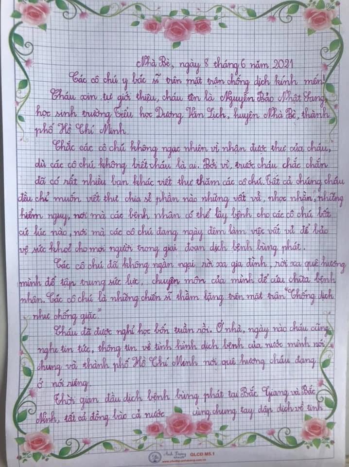 Các em nhỏ ở TP.HCM viết thư tay, ôm heo đất đến quyên góp cùng chống dịch  - ảnh 3