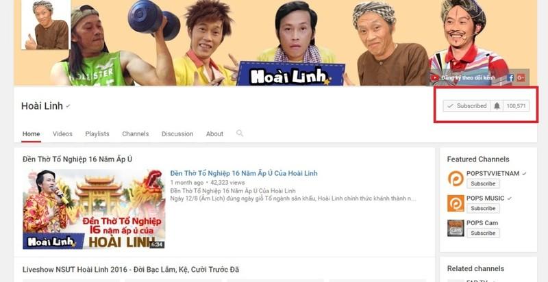 Hoài Linh sở hữu nút Play mạ bạc từ YouTube - ảnh 1