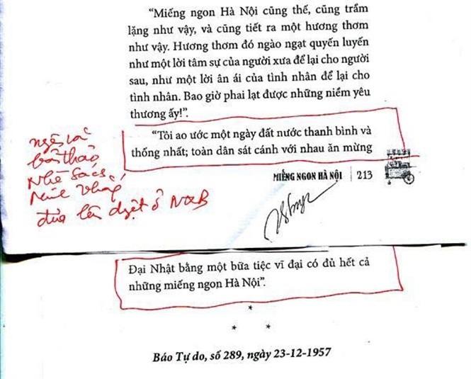 Thu hồi 'Miếng ngon Hà Nội' do có sai sót chính trị - ảnh 1
