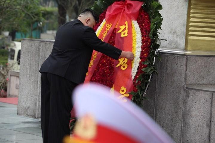 Hình ảnh Chủ tịch Kim Jong -un viếng Lăng Bác - ảnh 3