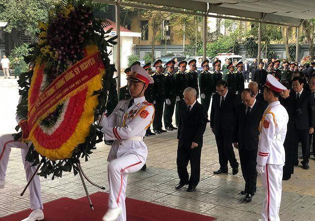 Thắt chặt an ninh tại Lễ tang Tướng Đồng Sỹ Nguyên - ảnh 1