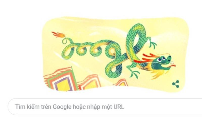 Google đổi Doodle ngày Giỗ tổ Hùng Vương - ảnh 1