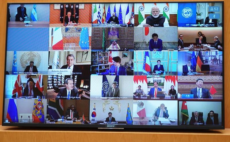 Thủ tướng dự hội nghị đặc biệt G20 về dịch COVID-19 - ảnh 1