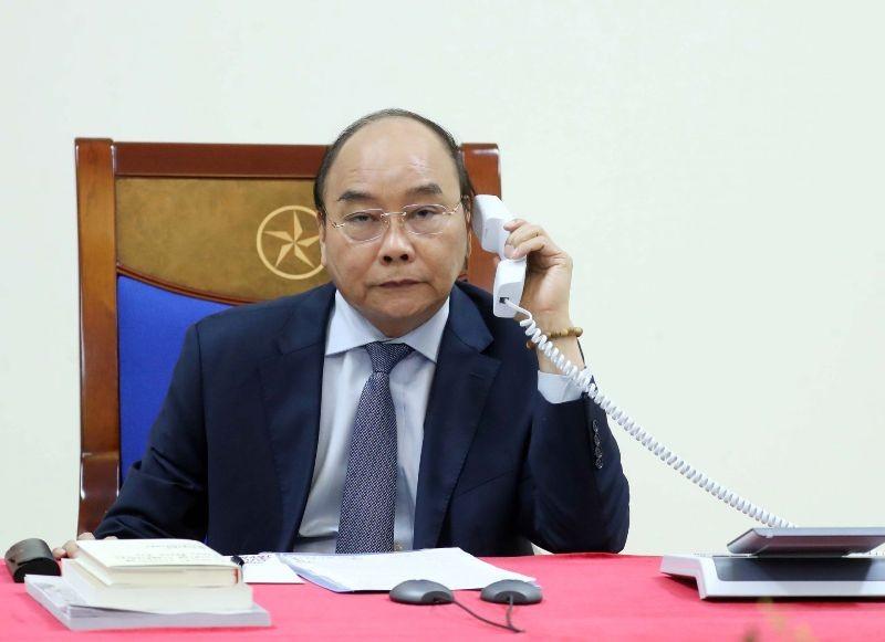 Thủ tướng Nguyễn Xuân Phúc điện đàm với Tổng thống Mỹ - ảnh 1