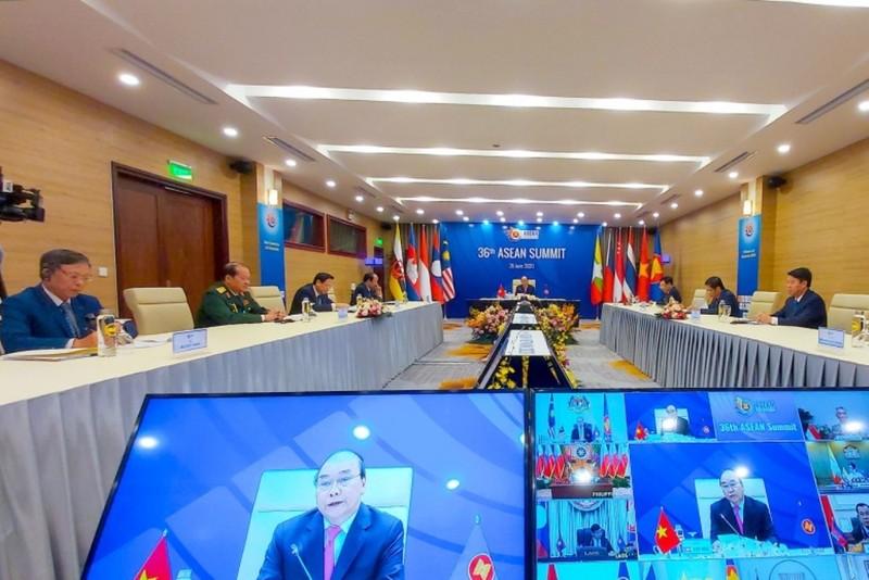 Phiên trực tuyến đầu tiên của ASEAN