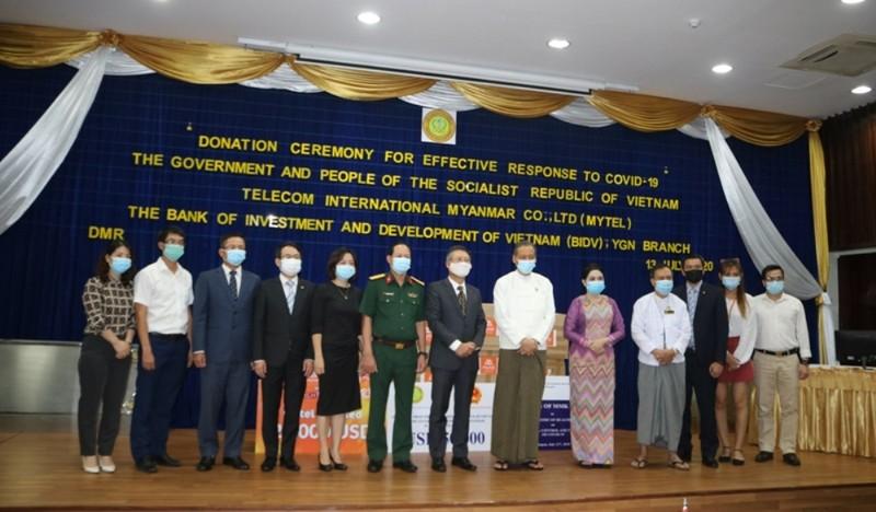 Việt Nam ủng hộ Myanmar 50.000 USD để phòng, chống dịch - ảnh 1