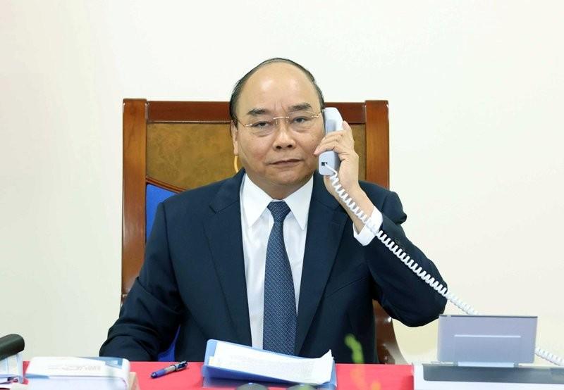 Thủ tướng Nguyễn Xuân Phúc điện đàm với Thủ tướng Đức - ảnh 1