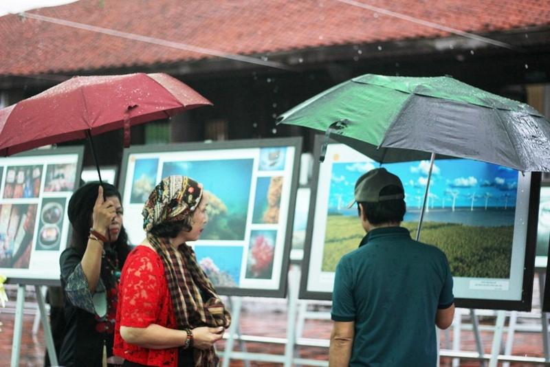 Người dân Hà Nội đội mưa, xem ảnh nghệ thuật - ảnh 2