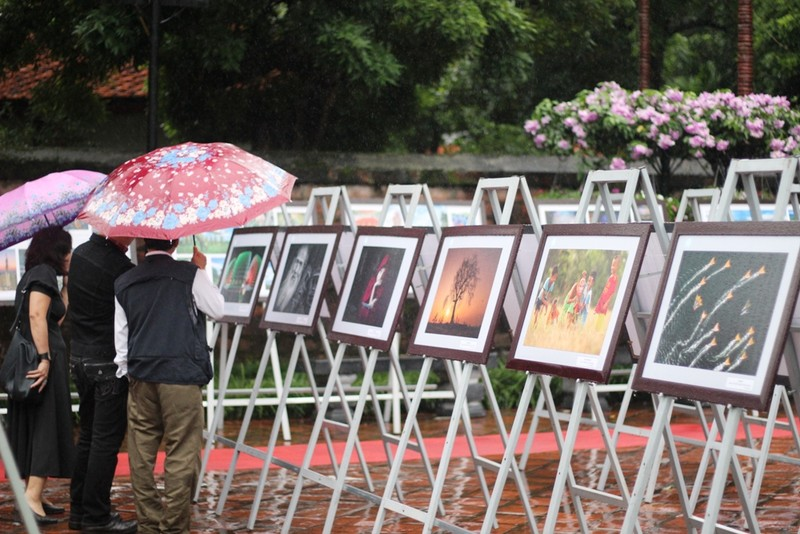 Người dân Hà Nội đội mưa, xem ảnh nghệ thuật - ảnh 4
