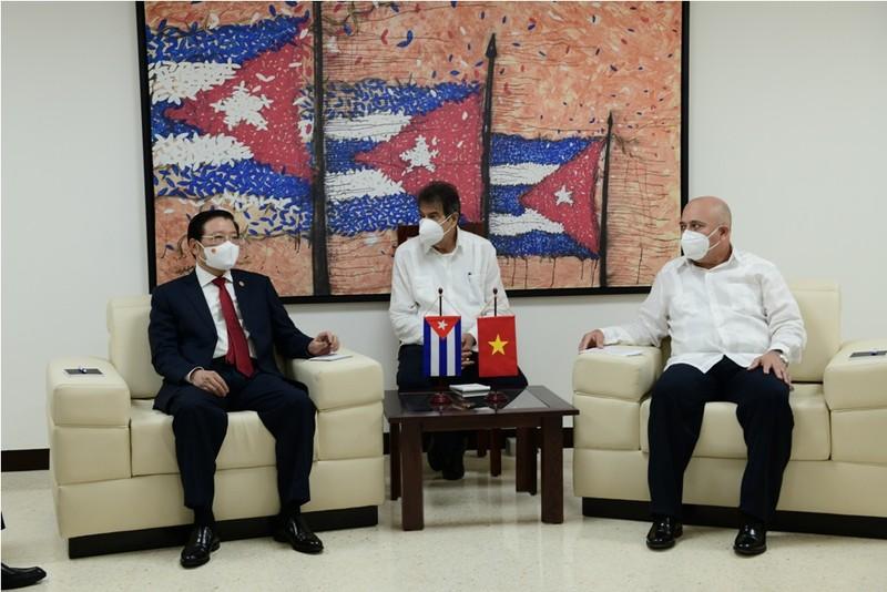 Trưởng Ban nội chính Trung ương Phan Đình Trạc gặp làm việc với phía Cuba - ảnh 1