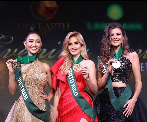 Hà Thu 'ẵm' giải đồng Trang phục dạ hội tại HH Trái đất - ảnh 2