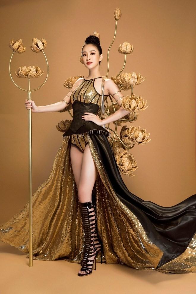 Hà Thu 'ẵm' giải đồng Trang phục dạ hội tại HH Trái đất - ảnh 6