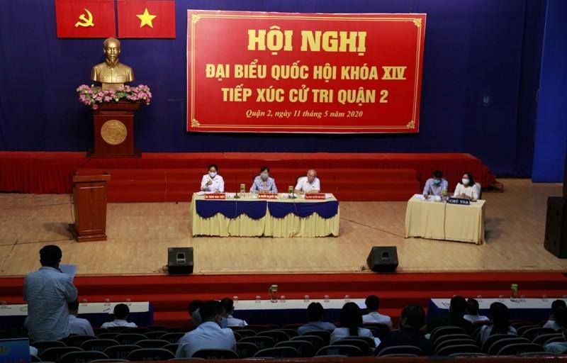 Đổi lịch tiếp xúc cử tri tại quận 2, quận 9 và huyện Hóc Môn - ảnh 1