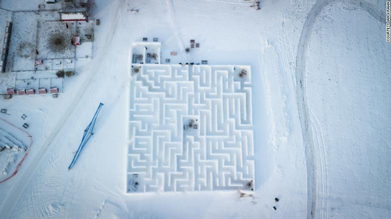 Cận cảnh mê cung tuyết khổng lồ phá kỷ lục thế giới - ảnh 4