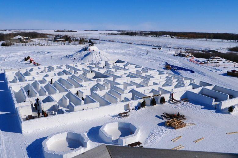 Cận cảnh mê cung tuyết khổng lồ phá kỷ lục thế giới - ảnh 1