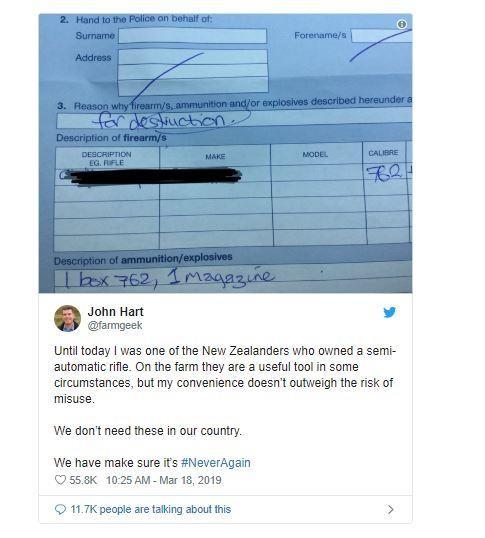 Người dân New Zealand giao nộp súng sau vụ xả súng - ảnh 1