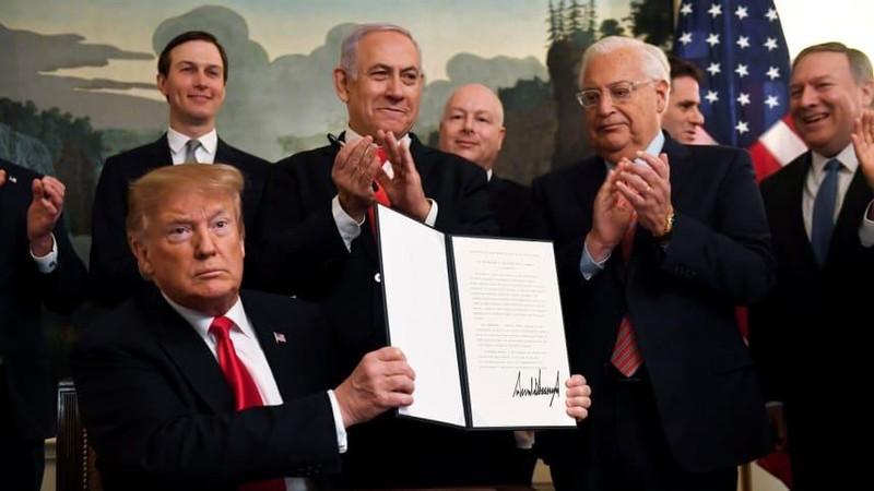 Ông Trump chính thức công nhận Cao nguyên Golan thuộc Israel - ảnh 1