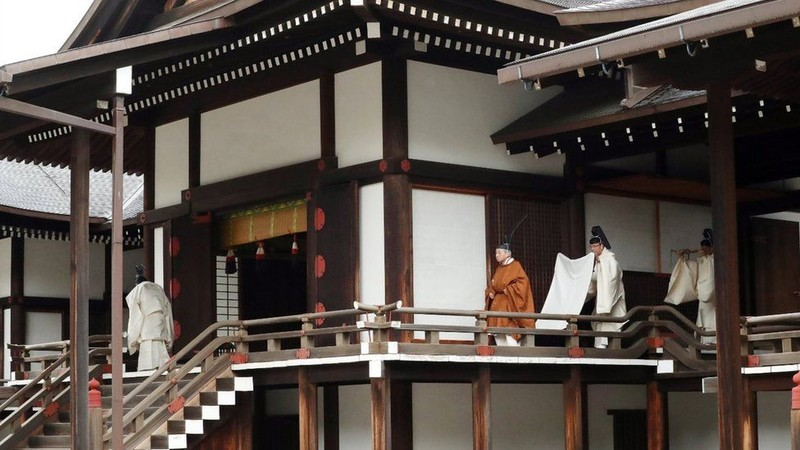 Emperor Akihito in the Imperial Palace
