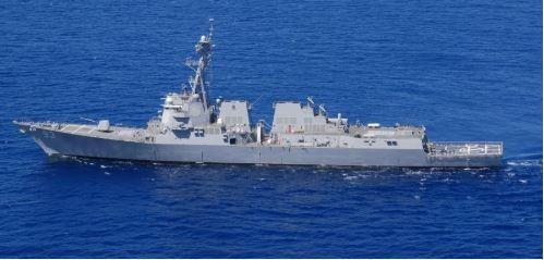 Tàu chiến Mỹ xuất hiện trên Biển Đông, thách thức Trung Quốc - ảnh 1