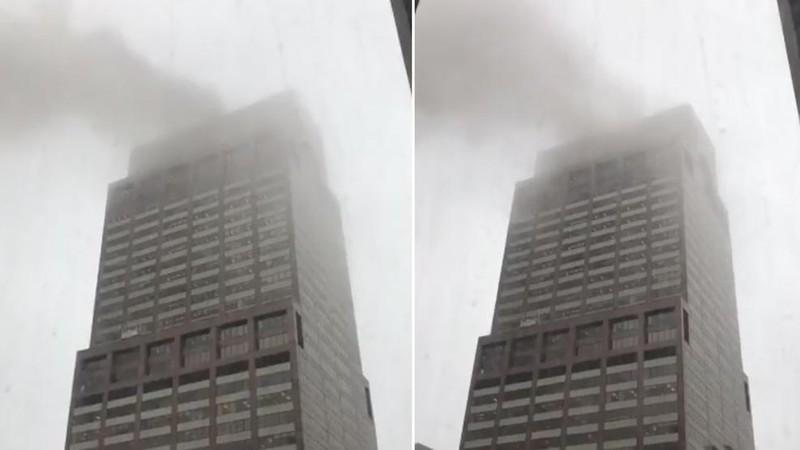 Trực thăng đâm vào nóc cao ốc ở New York, ít nhất 1 người chết - ảnh 1