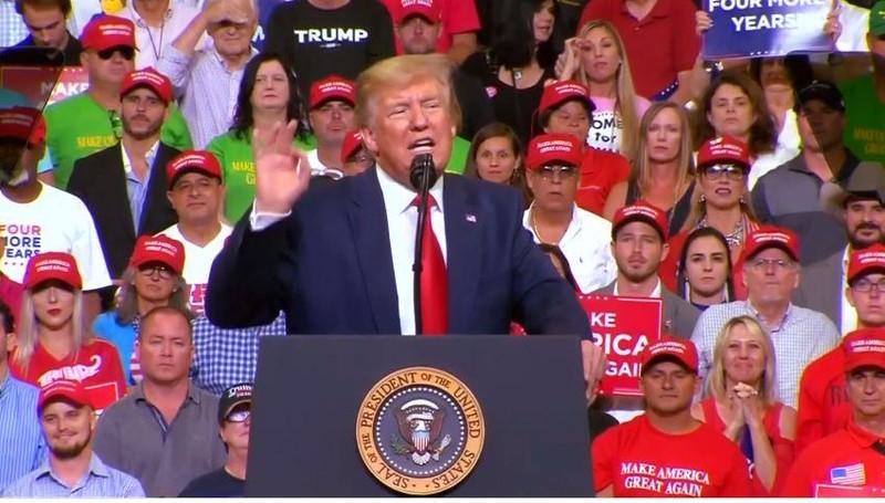 Chính thức tái tranh cử, ông Trump 'giữ nước Mỹ luôn vĩ đại' - ảnh 1