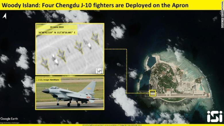 Trung Quốc triển khai trái phép chiến đấu cơ J-10 ra Hoàng Sa - ảnh 1