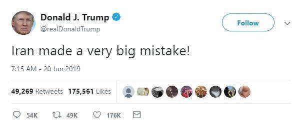 Ông Trump: 'Iran đã phạm sai lầm lớn' - ảnh 1