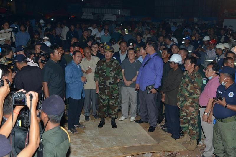 Sập công trình xây trái phép, lãnh đạo Campuchia bị sa thải - ảnh 1