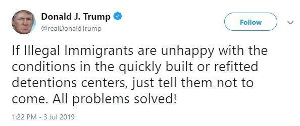 Ông Trump: Nếu không hài lòng khu tập trung, đừng đến nước Mỹ - ảnh 1