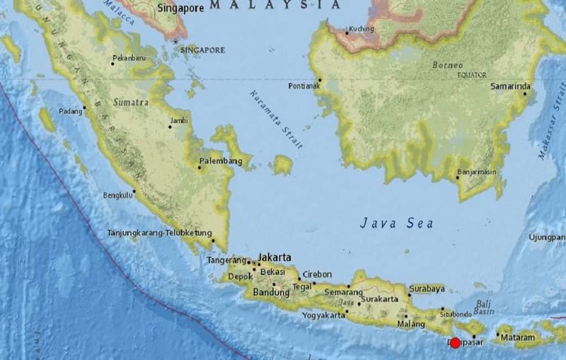 Bali rung chuyển do động đất dưới đáy biển - ảnh 1