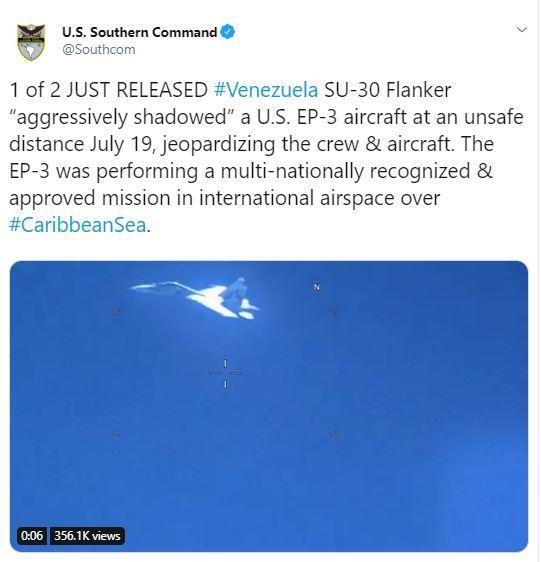 Chiến đấu cơ Venezuela bị tố 'áp sát' máy bay Mỹ - ảnh 1