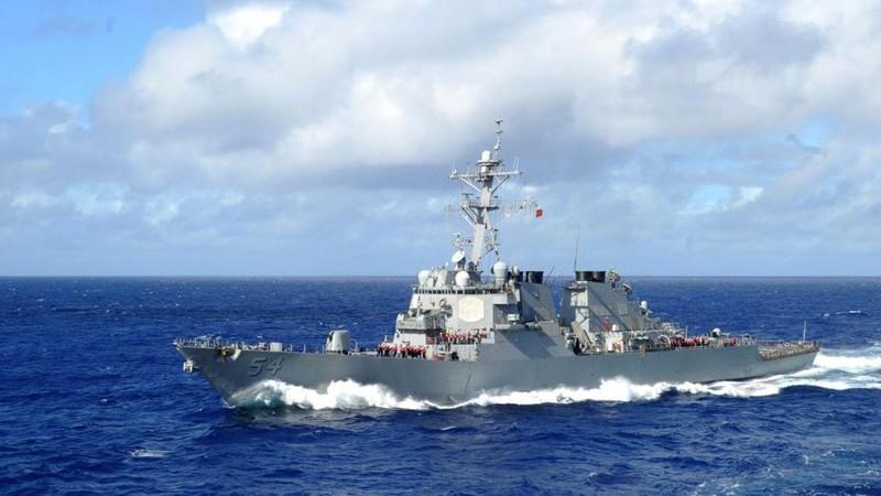 Mỹ điều tàu chiến đi qua eo biển Đài Loan - ảnh 1