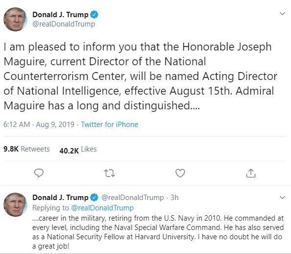 Mỹ có lãnh đạo tình báo quốc gia mới - ảnh 1