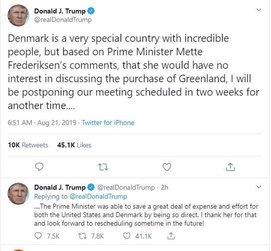 Trump hủy chuyến đi Đan Mạch vì bị từ chối bán đảo Greenland - ảnh 1