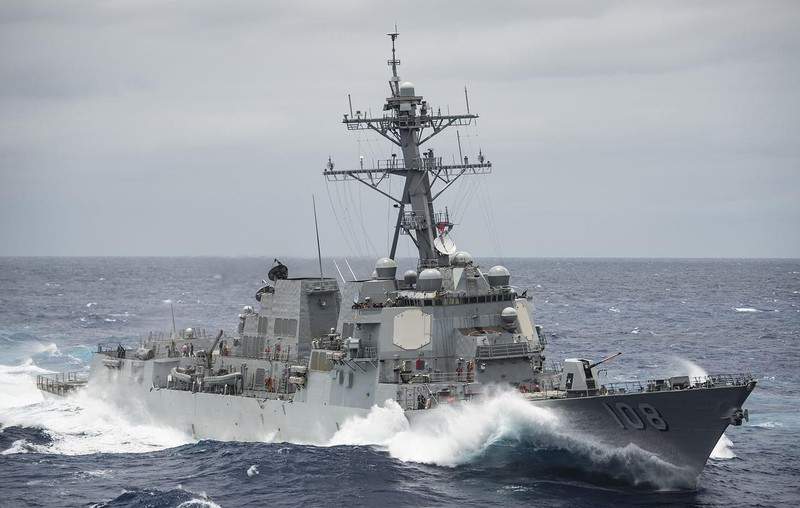 Tàu chiến Mỹ áp sát Vành Khăn, Chữ Thập, thách thức Trung Quốc - ảnh 1