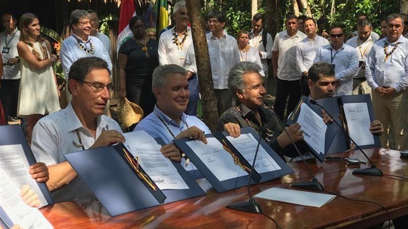 Các nước Amazon ký hiệp ước bảo vệ tốt hơn rừng nhiệt đới  - ảnh 1