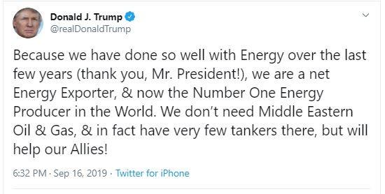 Ông Trump tự khen vì đưa Mỹ thành nước xuất khẩu dầu lớn nhất - ảnh 1