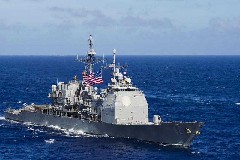 Mỹ điều tàu chiến mang tên lửa dẫn đường qua eo biển Đài Loan - ảnh 1