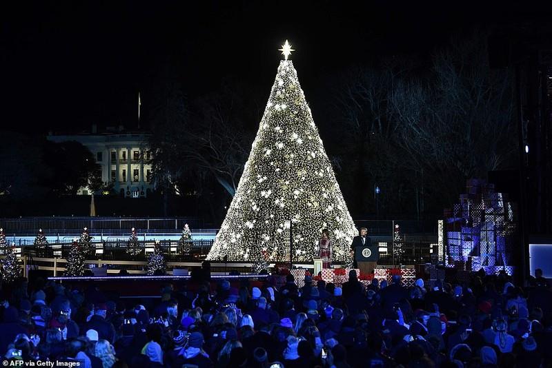 Thắp sáng cây thông Noel, nước Mỹ chào đón mùa lễ hội - ảnh 2