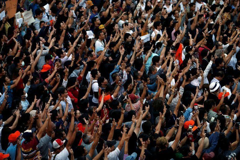 Người dân Thái Lan tổ chức biểu tình lớn nhất từ năm 2014 - ảnh 7